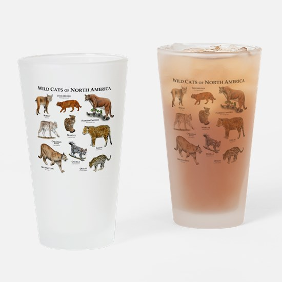 Wildcats of North America Drinking Glass
