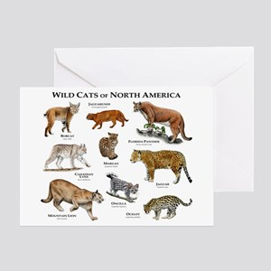 Wildcats of North America Greeting Card