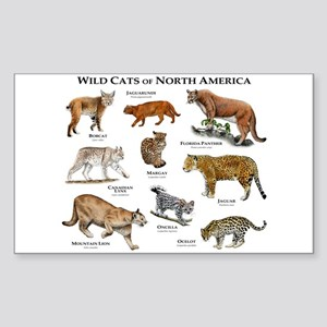 Wildcats of North America Sticker (Rectangle)