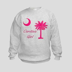 Hot Pink Carolina Girl Kids Sweatshirt