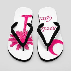 Hot Pink Carolina Girl Flip Flops