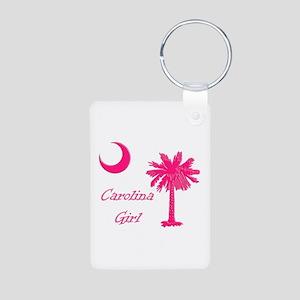 Hot Pink Carolina Girl Aluminum Photo Keychain
