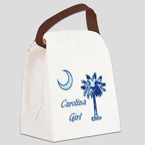 Light Blue Carolina Girl Canvas Lunch Bag