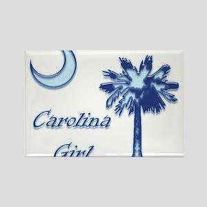 Light Blue Carolina Girl Rectangle Magnet