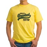 World's Greatest Pop Pop Yellow T-Shirt