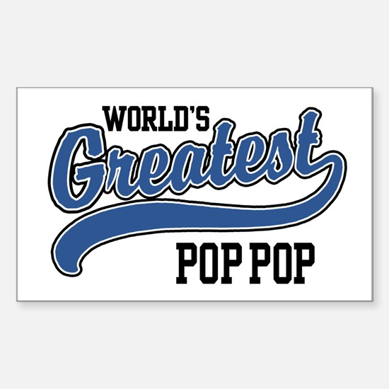 World's Greatest Pop Pop Sticker (Rectangle)