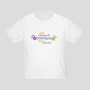 Stays At Preschool Toddler T-Shirt