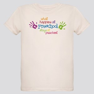 Stays At Preschool Organic Kids T-Shirt