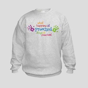 Stays At Preschool Kids Sweatshirt