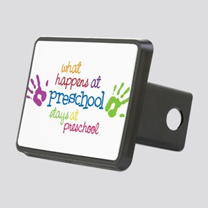 Stays At Preschool Rectangular Hitch Cover