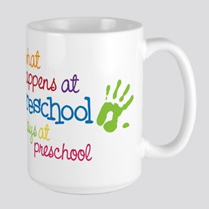 Stays At Preschool Large Mug