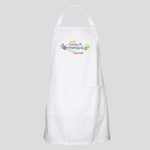 Stays At Preschool Apron