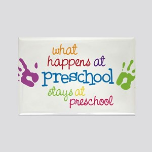 Stays At Preschool Rectangle Magnet