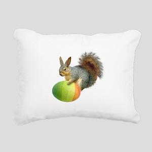 Easter Squirrel Rainbow Egg Rectangular Canvas Pil