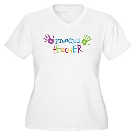 Preschool Teacher Women's Plus Size V-Neck T-Shirt