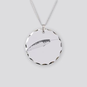 Narwhal whale bbg Necklace Circle Charm