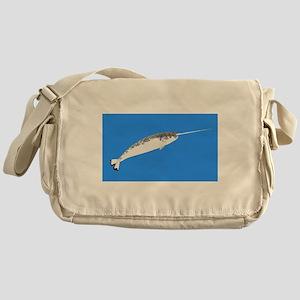Narwhal whale bbg Messenger Bag