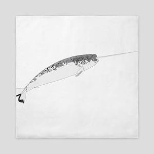 Narwhal whale bbg Queen Duvet
