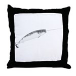 Narwhal whale bbg Throw Pillow