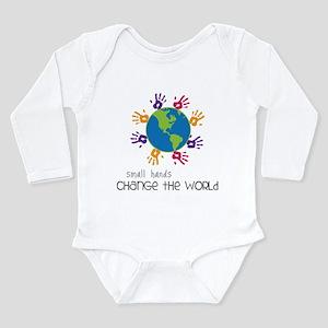 Small Hands Long Sleeve Infant Bodysuit