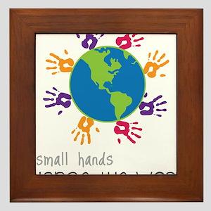 Small Hands Framed Tile