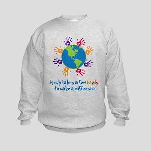 Make A Difference Kids Sweatshirt