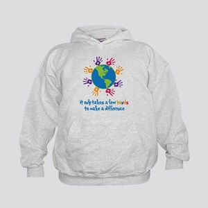 Make A Difference Kids Hoodie