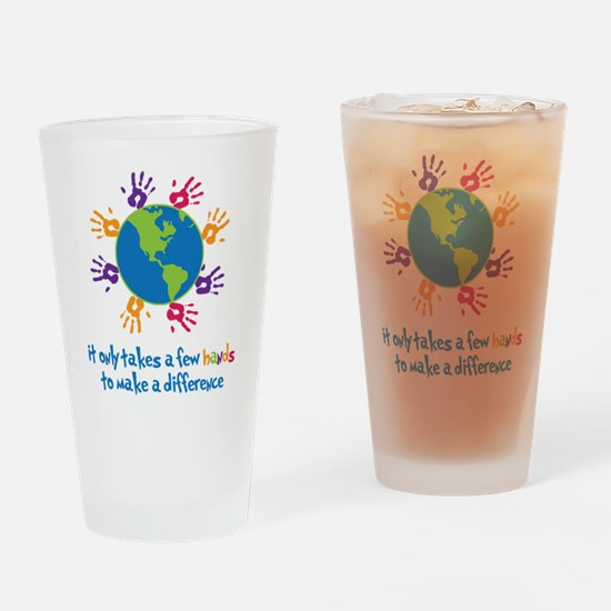 Make A Difference Drinking Glass