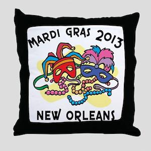 Mardi Gras 2013 Throw Pillow