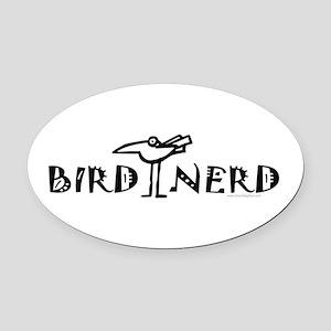 Birdwatching Oval Car Magnet
