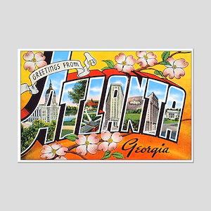 Atlanta Georgia Greetings Mini Poster Print