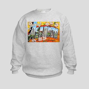 Atlanta Georgia Greetings (Front) Kids Sweatshirt