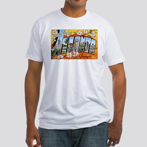 Atlanta Georgia Greetings (Front) Fitted T-Shirt