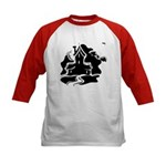 Haunted House Kids Baseball Jersey for Halloween