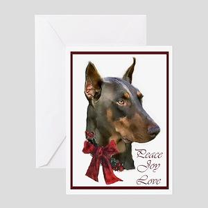 Doberman Pinscher Christmas Greeting Card