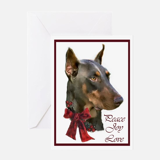 Doberman Pinscher Christmas Greeting Card