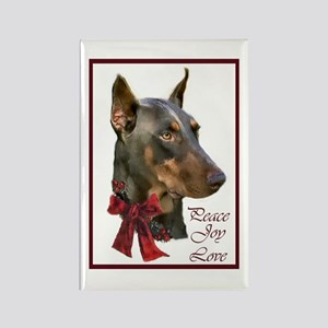 Doberman Pinscher Chris Rectangle Magnet (10 pack)