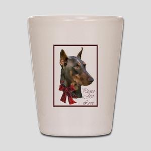 Doberman Pinscher Christmas Shot Glass