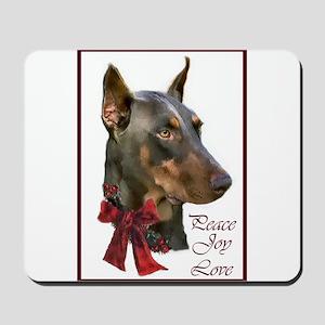 Doberman Pinscher Christmas Mousepad