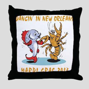 Funny Mardi Gras 2013 Throw Pillow