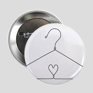 """Heart Hanger 2.25"""" Button"""