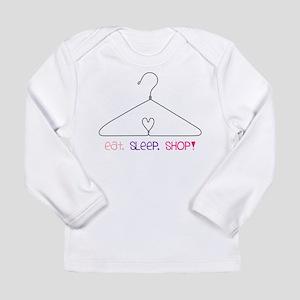 Eat Sleep Shop Long Sleeve Infant T-Shirt