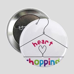 "Heart Shopping 2.25"" Button"