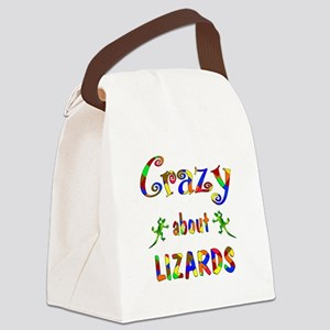Crazy About Lizards Canvas Lunch Bag