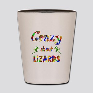 Crazy About Lizards Shot Glass
