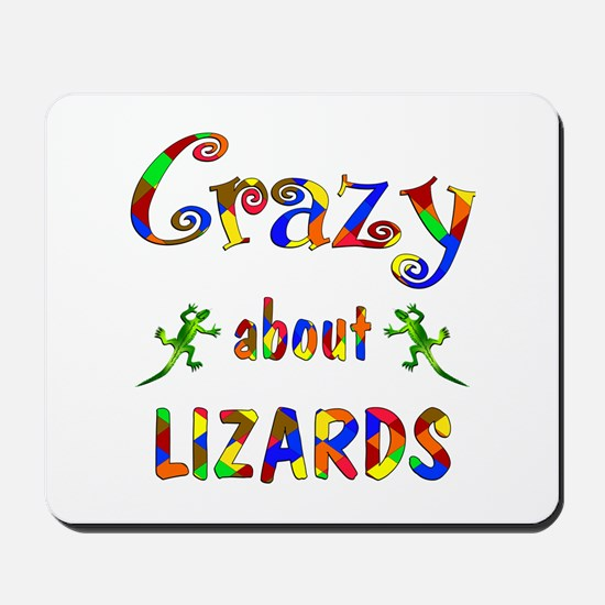 Crazy About Lizards Mousepad