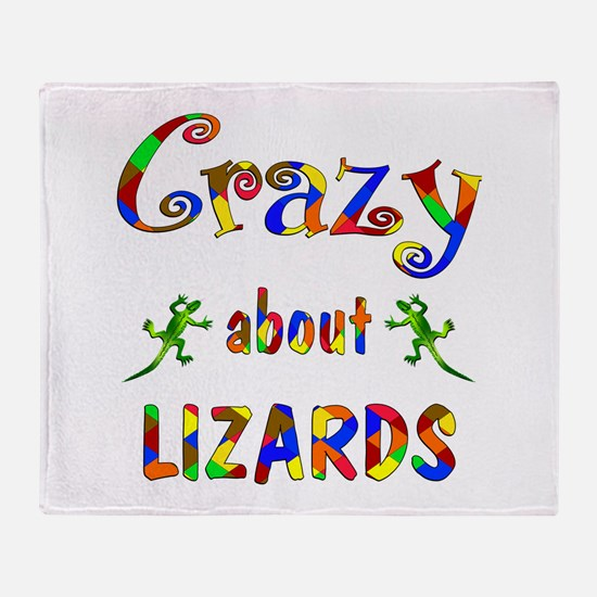 Crazy About Lizards Throw Blanket