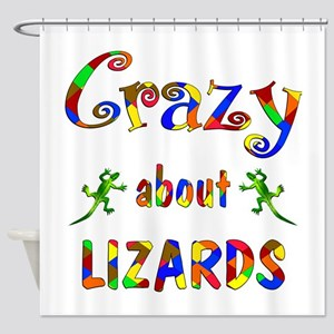 Crazy About Lizards Shower Curtain