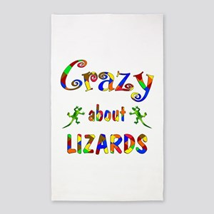 Crazy About Lizards 3'x5' Area Rug