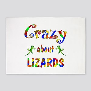 Crazy About Lizards 5'x7'Area Rug
